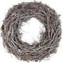 wholesale Artificial Flowers: Wreath Caleb , D75H22cm, white washed